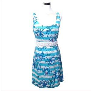 Lilly Pulitzer Dress Serena Shorley Floral Stripe